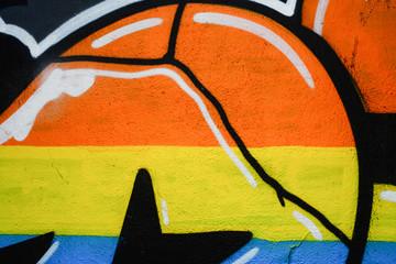 Panel Szklany Graffiti Murales, vernice colorata