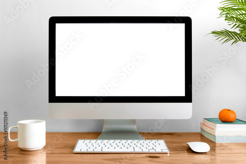 Fotografie, Obraz  Computer on table