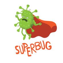 Cartoon Superbug. EPS 10 Vector.