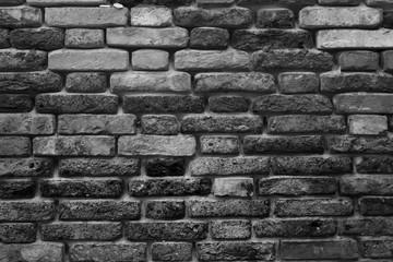 Темная кирпичная стена, фон