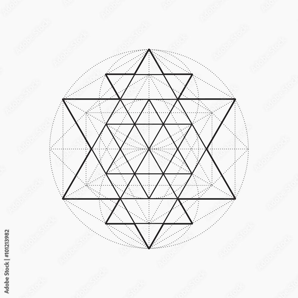 photo art print geometric shapes line design triangle sacred
