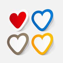 Paper Sticker: Valentine's Day. Heart
