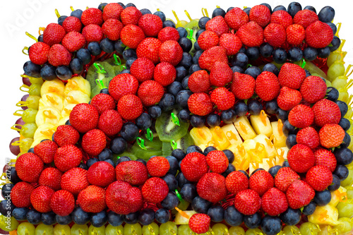 Cake With Fruits 25 Years The Jubilee Design Of And Berries
