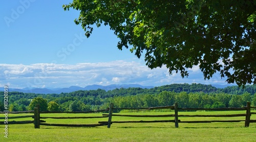 Obraz  Scenic view of rural Vermont country landscape - fototapety do salonu
