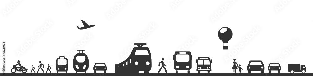 Fototapeta Verkehrssymbole