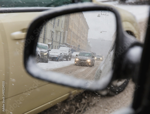 Tuinposter Noord Europa side mirrors