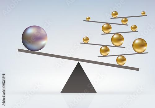 Papel de parede équilibre - Boules - audace - incroyable - faluleux