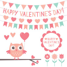 Valentines Day Set - Cute Owl ...