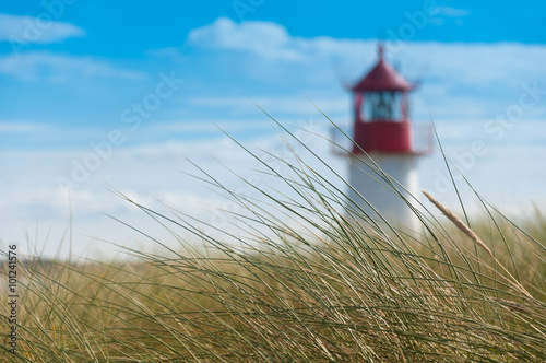 Stickers pour porte Phare Lighthouse List West, Ellenbogen, Sylt