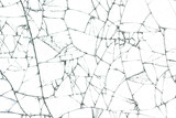 broken glass texture on white background