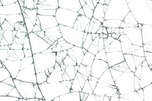 Broken Glass Texture On White ...