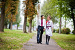 Couple on traditional dress in love