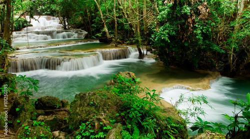 Türaufkleber Wasserfalle Huay Mae Kamin waterfall asia thailand