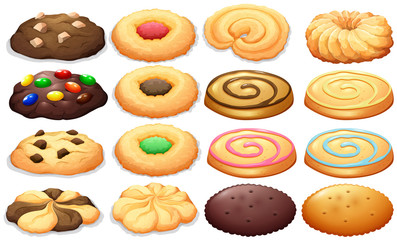 FototapetaDifferent kind of cookies