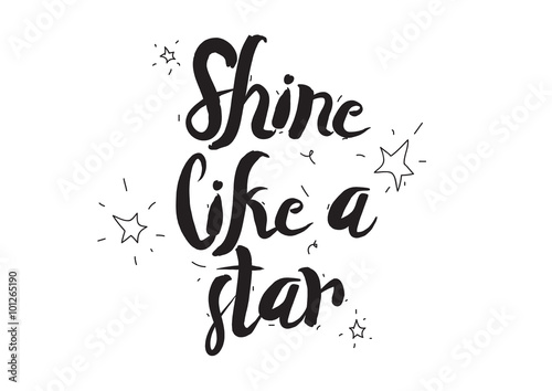 Shine like a star Poster