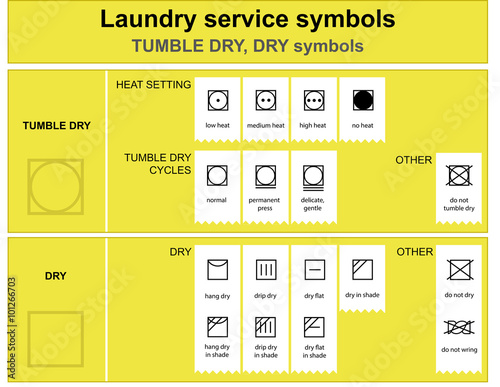 Guide To Laundry Service Symbols Laundry Service Dry And Tumble Dry