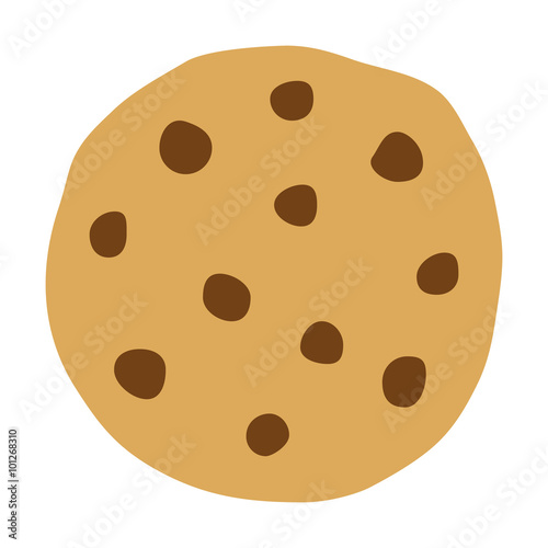 Photo  Chocolate chip cookie icon for food apps and websites
