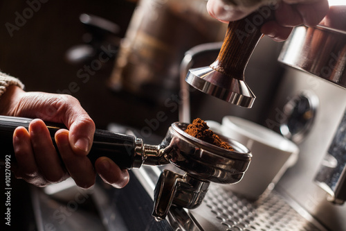 Photo  Espresso making machine