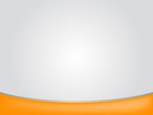 Gray Background With Orange Bar For Presentation