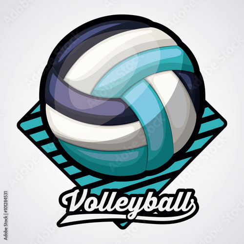 obraz lub plakat volleyball league design