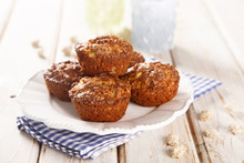 Bran Muffins With Apple And Cinnamon