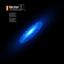 Bright Supernova Remnant Nebula