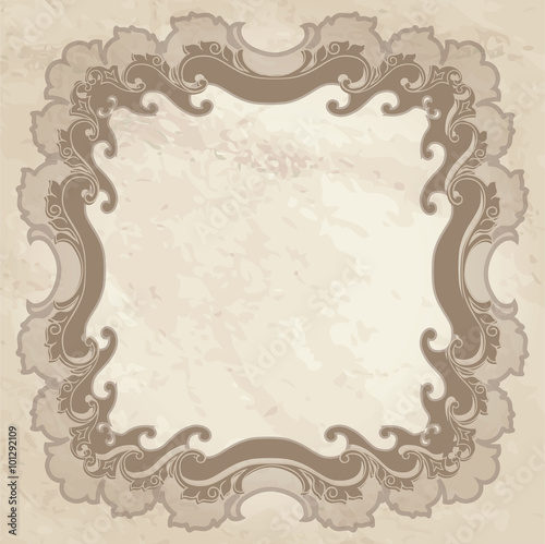 Papiers peints Affiche vintage Vintage frame with place for your text. Old paper background. Retro textured wallpaper.