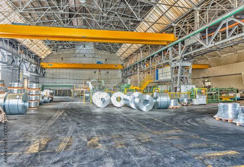 Foto op Plexiglas Rolls of steel sheet