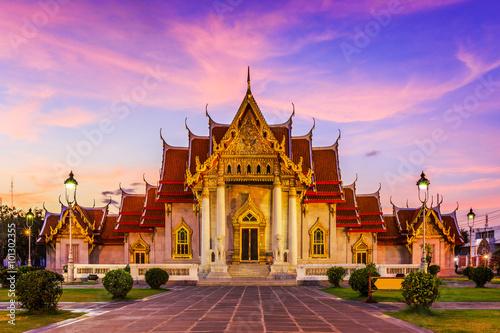 Ingelijste posters Bangkok Bangkok, Thailand. Wat Benchamabopit ( Marble temple)