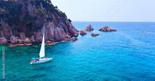 Canvas Prints Blue Mediterranean coast of Spain