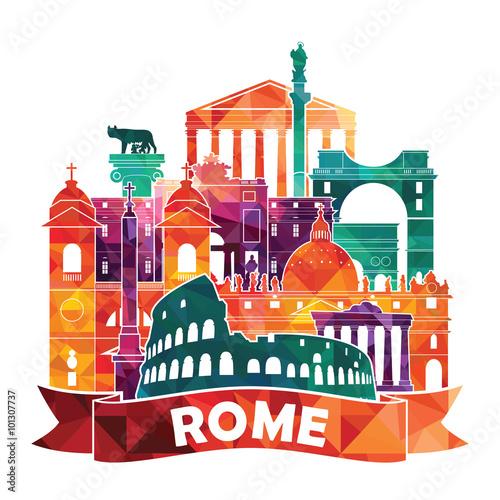 Photo Rome. Vector illustration