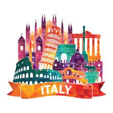 Italy. Vector Illustration