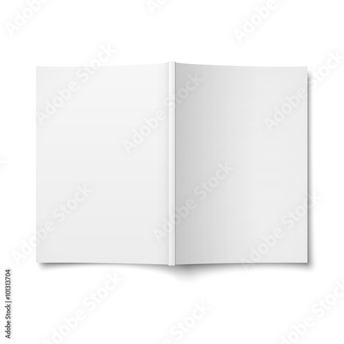 Blank opened magazine cover template. Poster