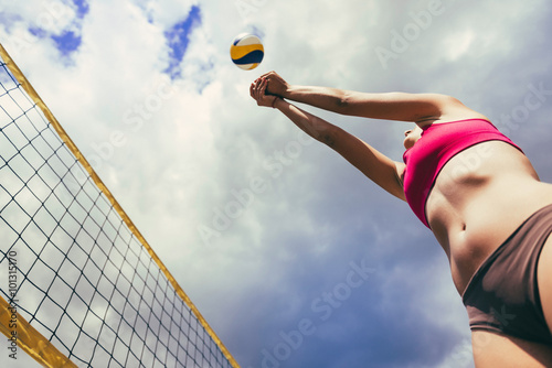 fototapeta na drzwi i meble Beach volleyball