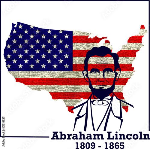 Foto  Silhouette Abraham Lincoln