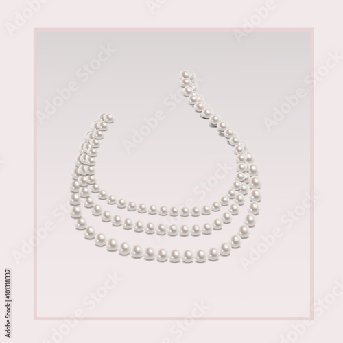 Stampa su Tela Elegant pearl necklace