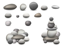 Set Pebbles And Natural Stones...