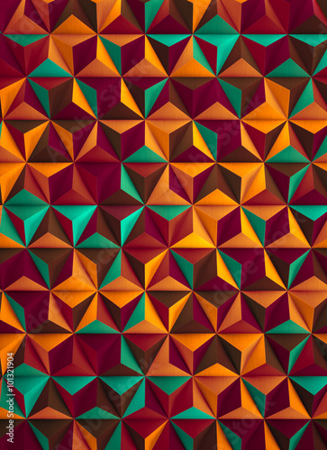 Foto op Aluminium ZigZag Low Poly Multicolored Abstract Background