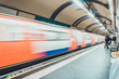 Underground metro or tube station