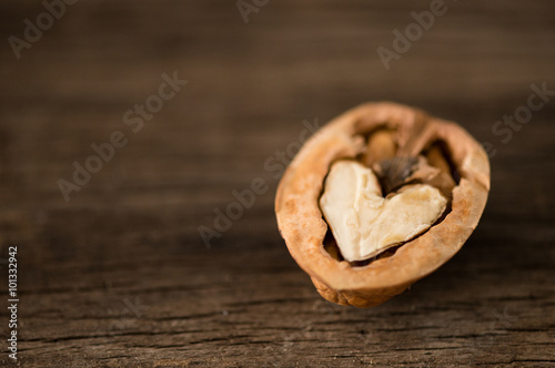 Vászonkép  Heart shaped walnut waiting to be discovered together