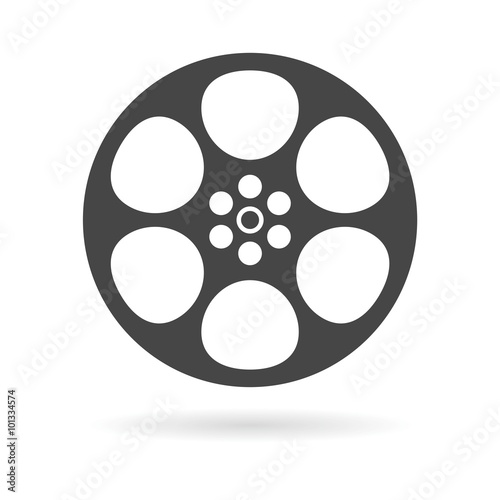 Film reel icon Fototapet