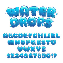 Cartoon Water Drops Font