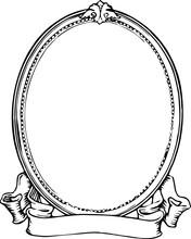 Oval Frame_clip Art_vintage