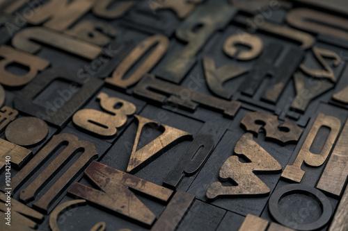 Fotografía  Alfabeto de tipografía