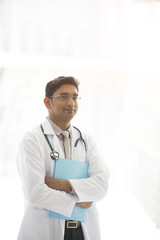 indian male doctor outdoor