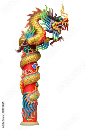 Photo  Chinese style dragon statue.