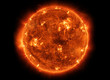 Leinwanddruck Bild - Powerful Sun in space