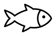 Fish Or Seafood Line Art Icon For Food Apps And Websites