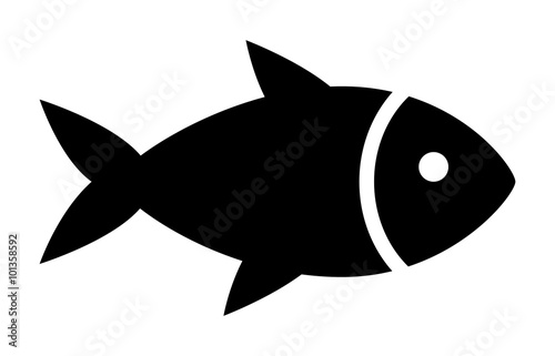 Fotografía  Fish or seafood flat icon for food apps and websites