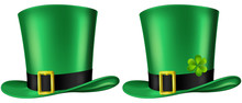 Green Leprechaun's Hat, Three ...